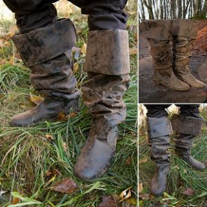 LARP Antique Finish Medieval / Pirate Boots
