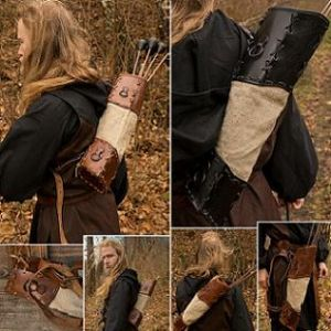 LARP Wildling Arrow Quiver in Black or Brown