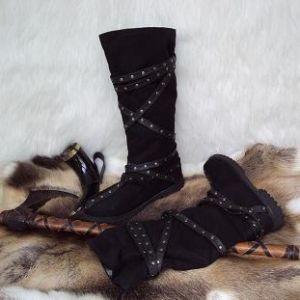Medieval Calf  High Brown Warrior Boots